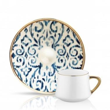 Koleksiyon Nomad Kobalt Sufi 6'Lı Türk Kahve Seti Renkli
